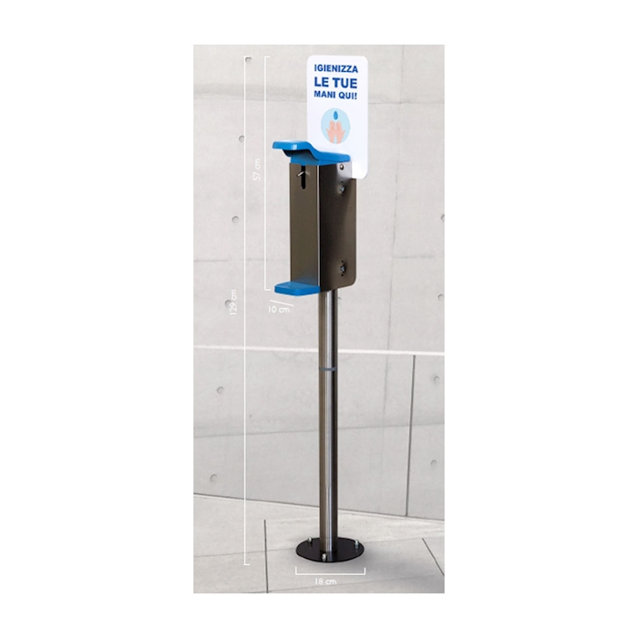 Colonna con dispenser a gomito da esterno in acciaio inox cm 129