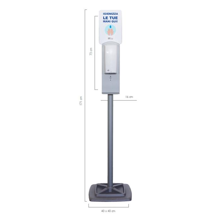 Colonna con dispenser automatico in acciaio cm 171