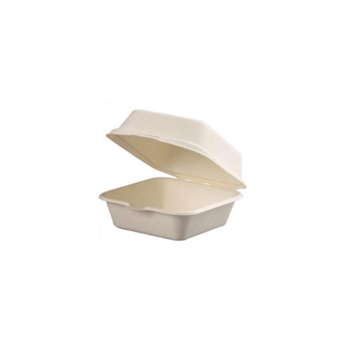 Contenitore con coperchio in polpa di cellulosa cm 15x15x8