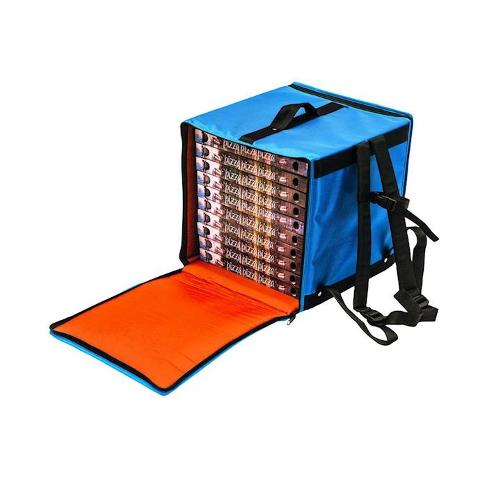 Borsa zaino termico in nylon azzurro cm 36x36x40