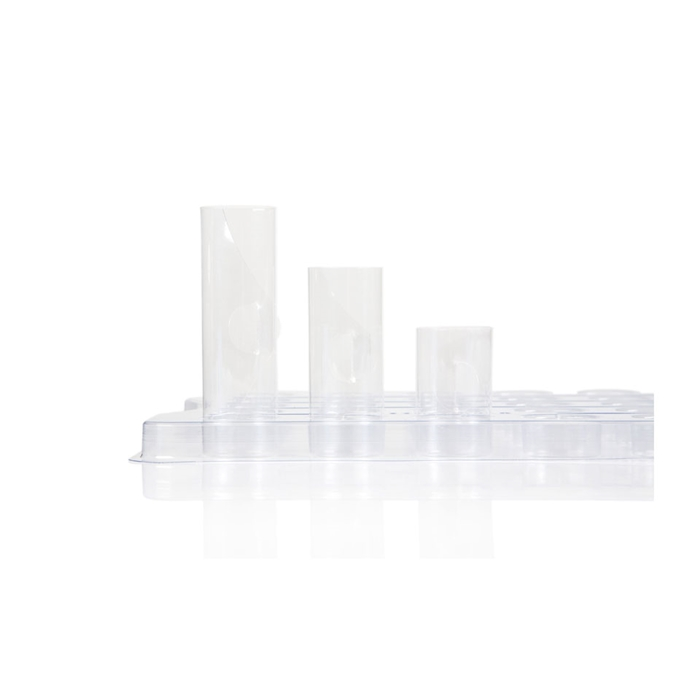 Pellicole cilindriche 100% Chef in acrilico trasparente cm 8