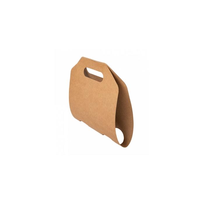 Portabicchieri asporto per 2 tazze in carta marrone