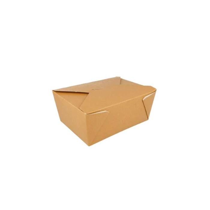 Contenitore rettangolare americano in carta marrone cm 19,8x14x9