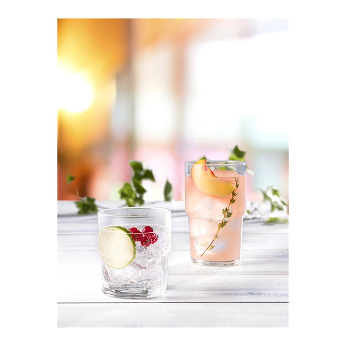 Bicchiere impilabile long drink Hill in vetro cl 44