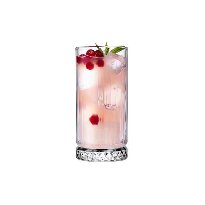 Bicchiere Elysia in vetro decorato cl 28