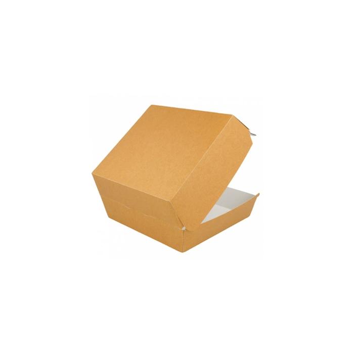 Contenitore hamburger in carta marrone cm 17,5x18x7,5