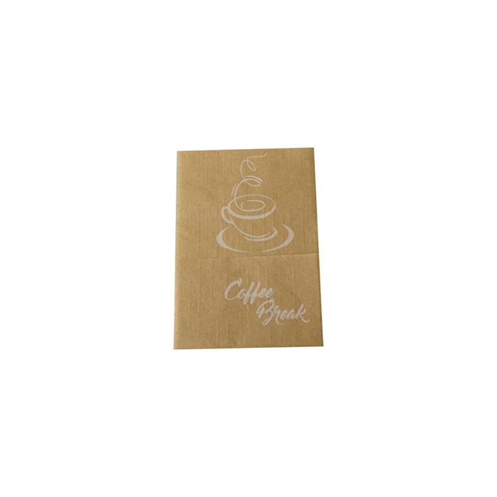 Tovagliolo monovelo Coffee Break in cellulosa avana cm 17x17