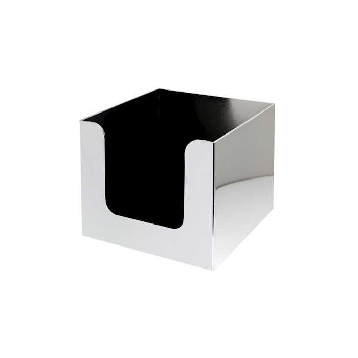 Porta tovaglioli in plastica cromata cm 13,5x13,5x10,2