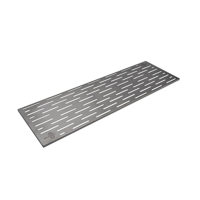 Bar mat in gomma ramata con griglia in acciaio cm 60x20