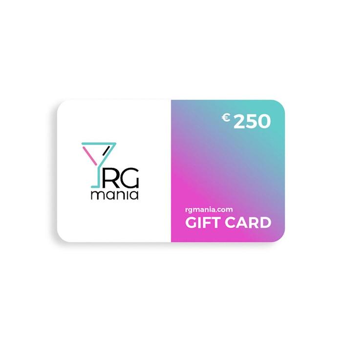 Gift Card carta regalo RGmania 250 Euro