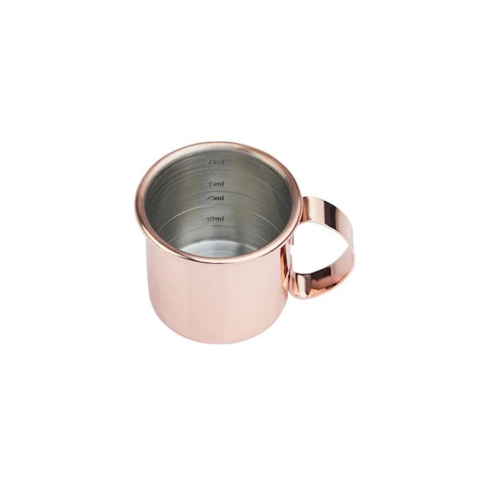Jigger mini boccale liscio in acciaio ramato cl 6