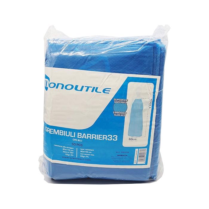 Grembiule riutilizzabile in pvc blu