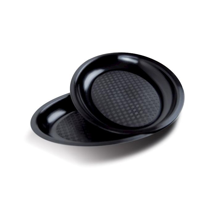 Piatto ovale in polipropilene nero cm 25,5x19