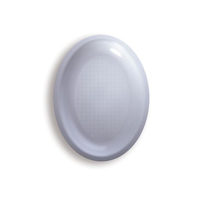 Piatto ovale in polipropilene bianco cm 25,5x19
