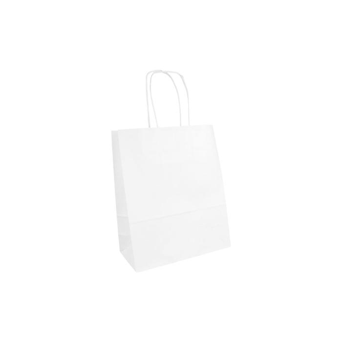 Borsa in carta bianca cm 18x8x21,5