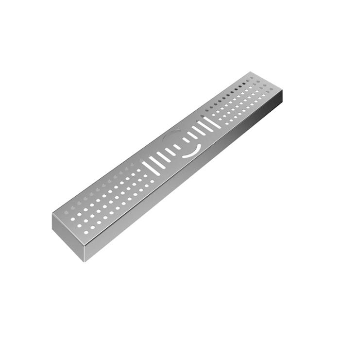 Bar mat con griglia in acciaio inox cm 30