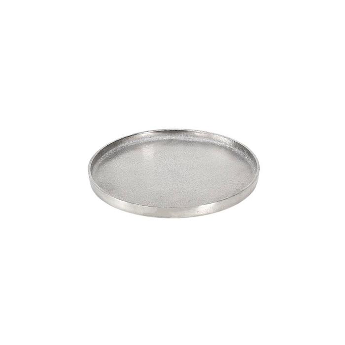 Vassoio tondo Small in alluminio silver cm 25