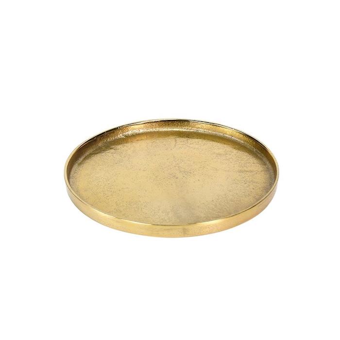 Vassoio tondo Large in alluminio gold cm 38,5