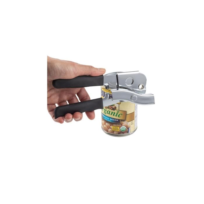 Apriscatole Universal in acciaio con manico in nylon