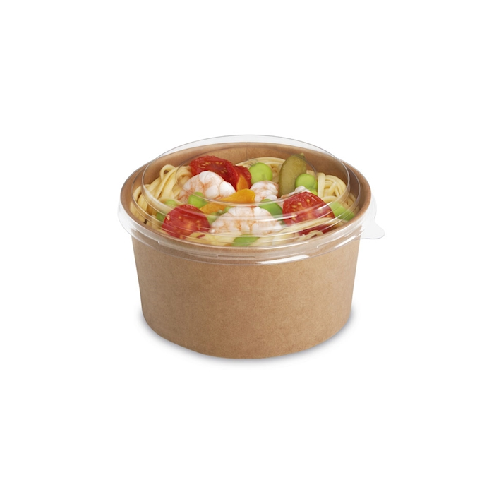 Contenitore Tusipack Salad Rond in carta marrone cm 15x7,7