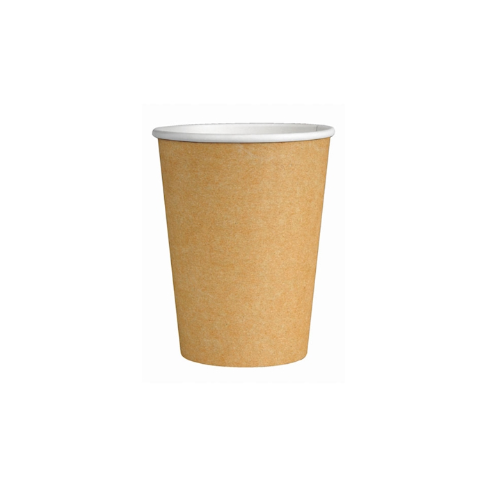 Bicchiere cappuccino in cartoncino avana cl 28