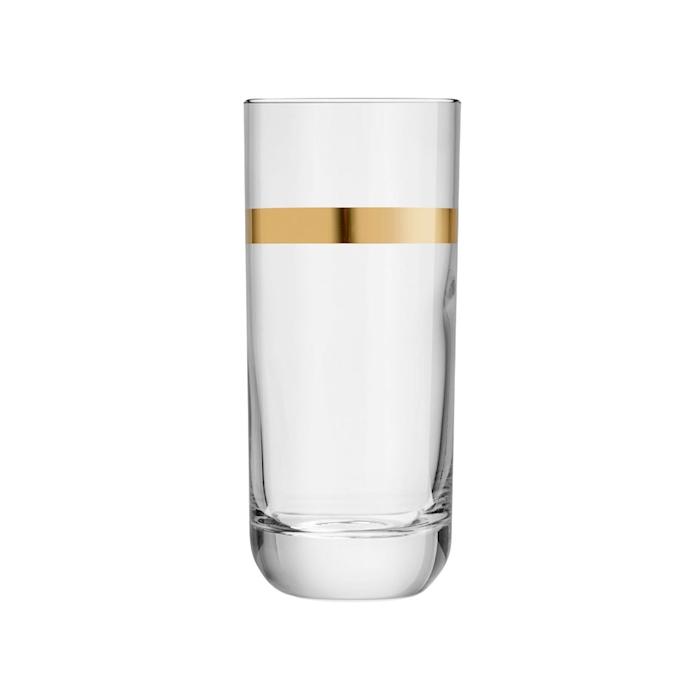 Bicchiere beverage Envy Libbey con rigo d'oro in vetro cl 35,4