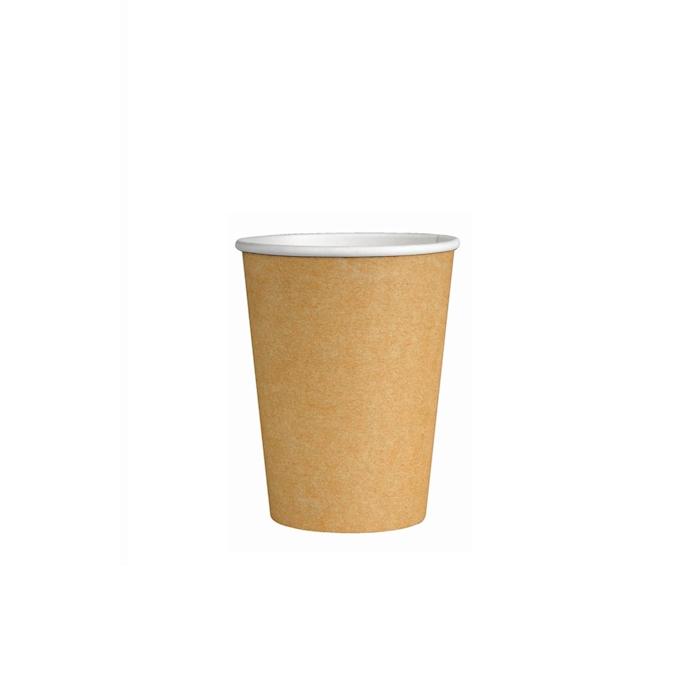 Bicchiere caffè con manico in carta avana cl 9
