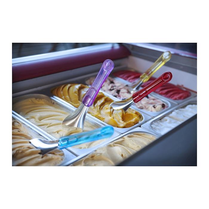 Spatola gelato in acciaio inox con manico in tritan viola cm 26