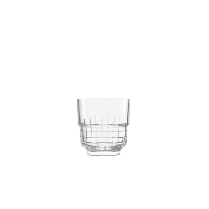 Bicchiere rocks TarQ Libbey impilabile in vetro cl 26