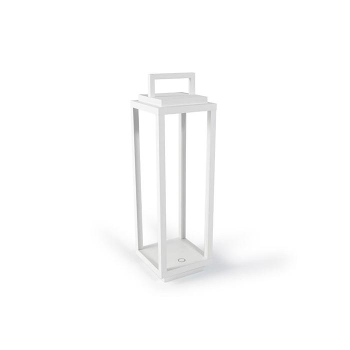 Lampada a led Resort in alluminio bianca