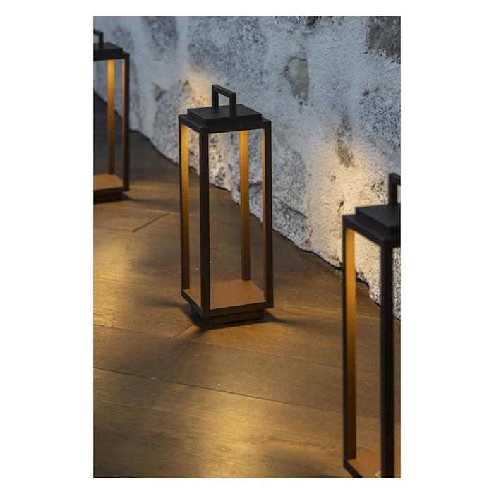 Lampada a led Resort in alluminio corten