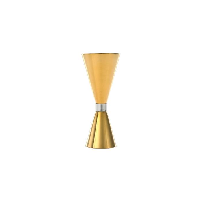 Jigger slim in acciaio inox dorato 1/2-3/4-1,1/2-1-2 oz.