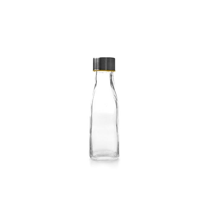 Bottiglia in vetro con tappo a vite in acciaio cl 28,5