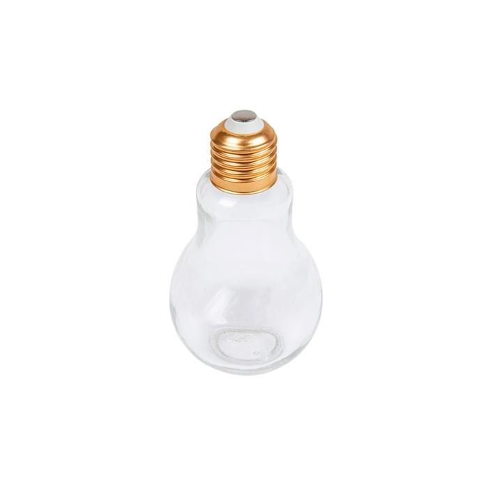 Bicchiere lampadina in vetro con tappo in alluminio cl 15