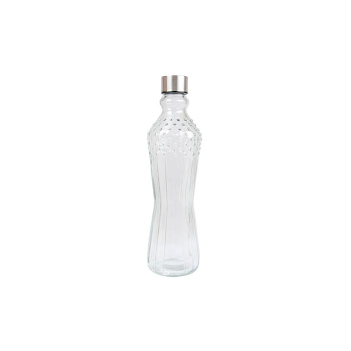 Bottiglia puntinata in vetro con tappo in acciaio inox cl 99