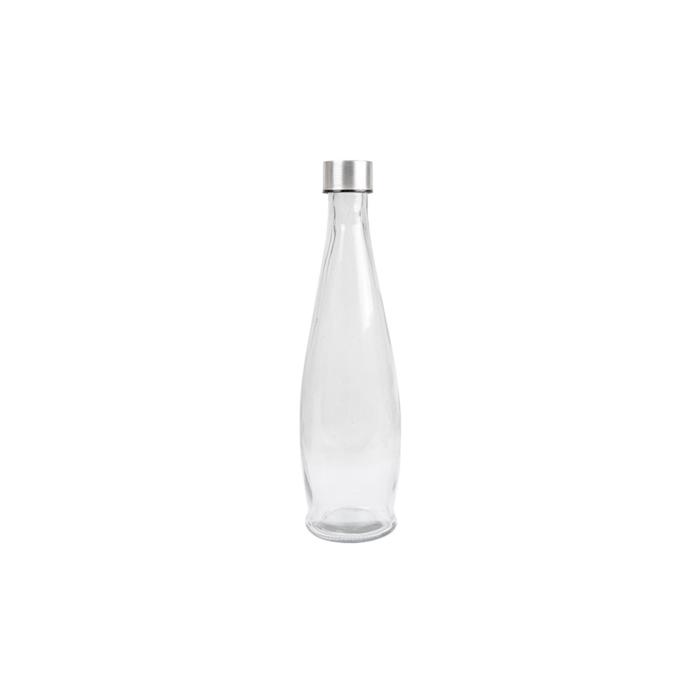 Bottiglia in vetro con tappo in acciaio inox cl 93