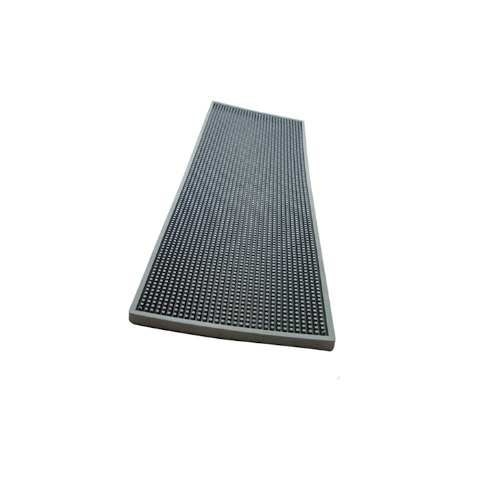 Bar mat in gomma silver cm 60x20