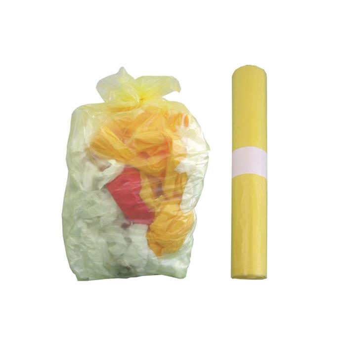 Sacco immondizia in polietilene giallo cm 72x110