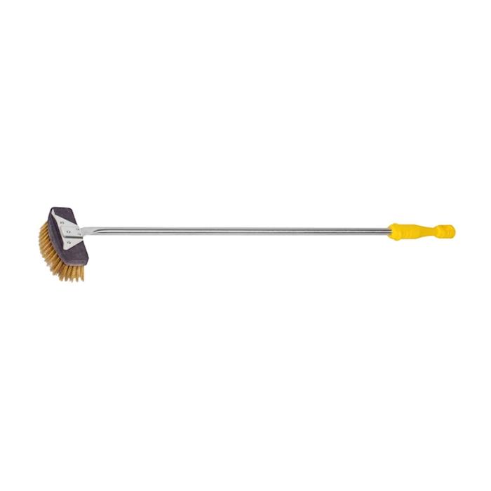 Spazzolone con raschietto Venezia in ottone cm 135