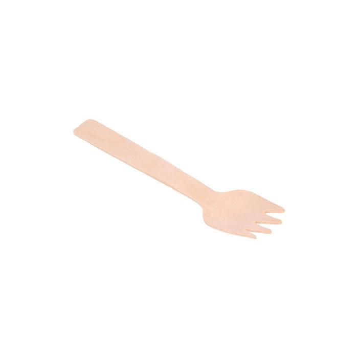 Mini forchetta in legno naturale cm 10,5