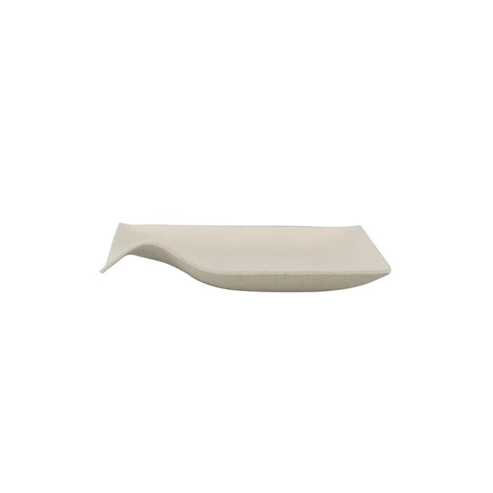 Piattino Bionic Kaku in bagassa bianca cm 8x8
