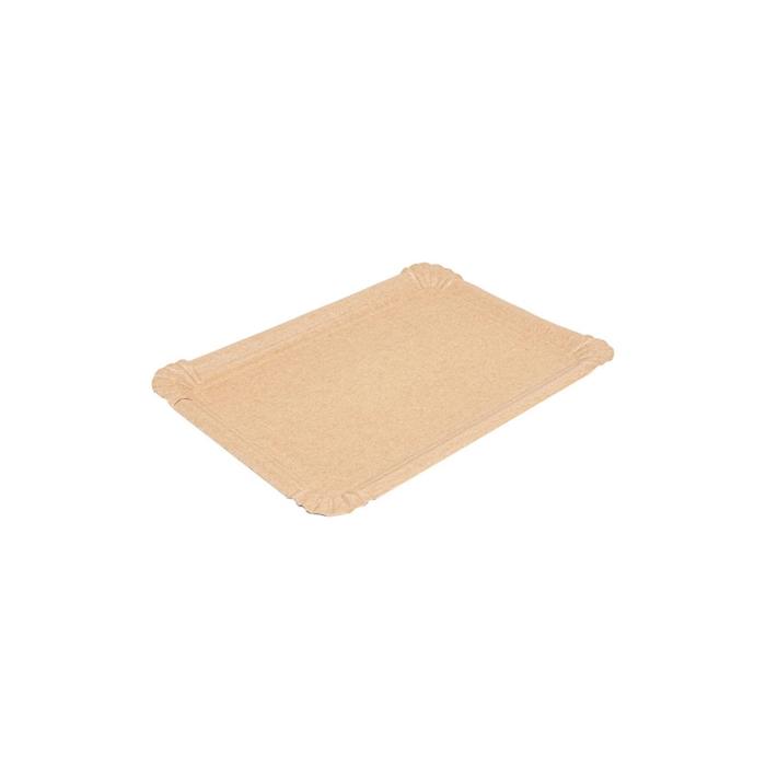 Vassoio rettangolare in carta kraft cm 23x17
