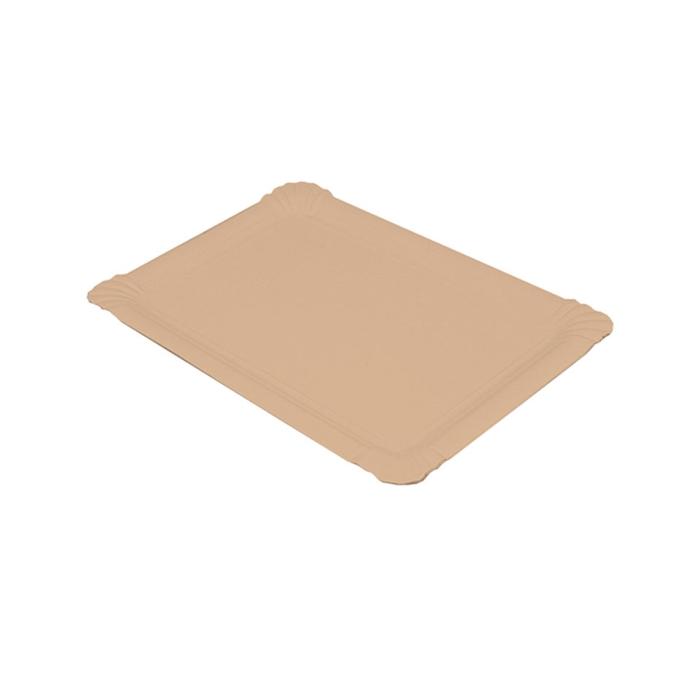 Vassoio rettangolare in carta kraft cm 30x21