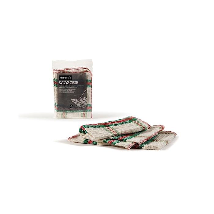 Strofinaccio per pavimenti in cotone con decoro scozzese cm 56x40