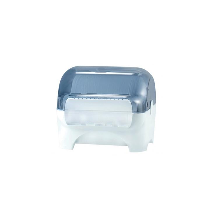 Porta Rotolo Security a parete in policarbonato bianco e fume cm 31