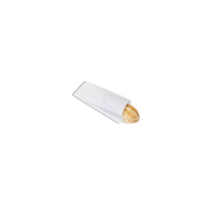 Sacchetti monouso per asporto di carta bianca cm 12 x 26