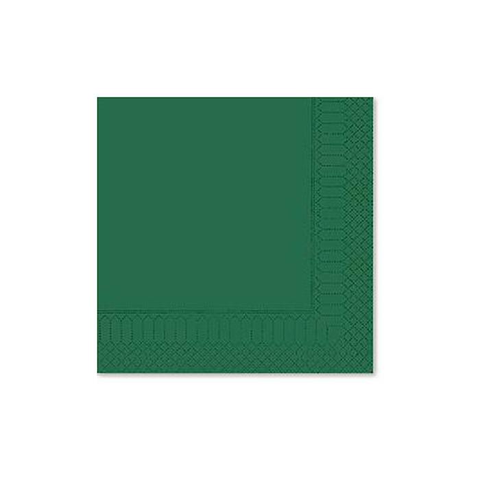 Tovagliolo 2 veli in cellulosa verde foresta cm 25x25