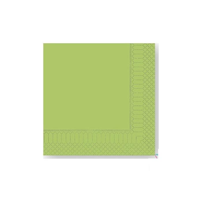 Tovagliolo 2 veli in cellulosa verde mela cm 25x25