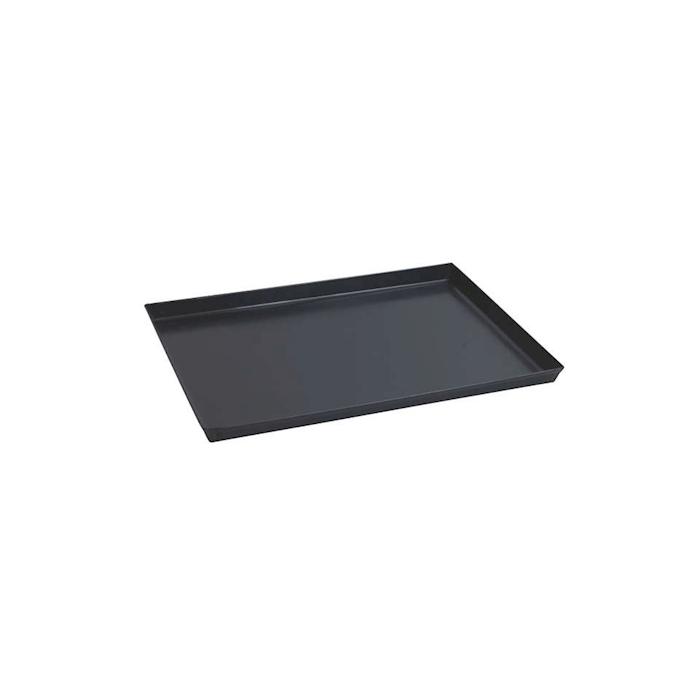 Teglia rettangolare per pizza in ferro blu cm 30x23