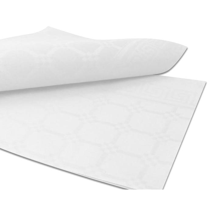 Coprimacchia Elegante in carta politenata bianca cm 100x100
